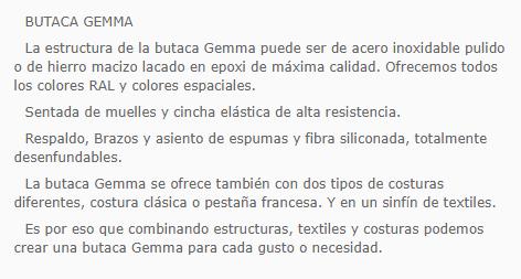 GEMA BUTACA 84x75x83 vm