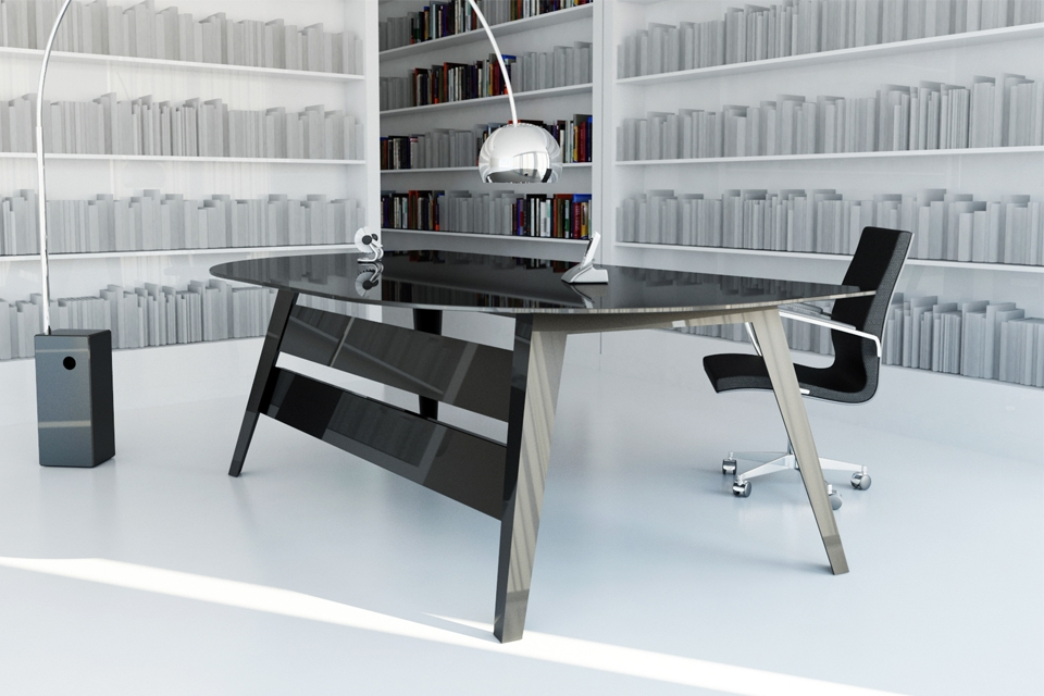 Mesas de despacho de cristal affordable mesa de despacho moderna mlaga with mesas de despacho - Mesas despacho cristal ...